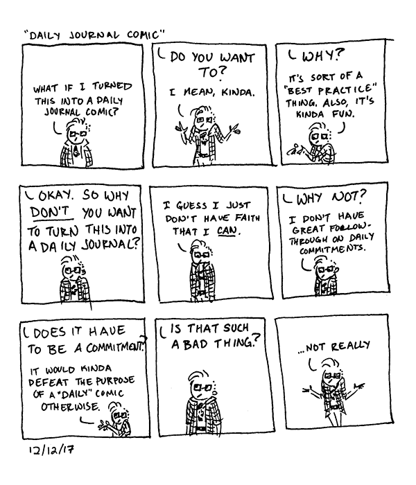 Conversations With Someone Who is Definitely Not God Daily Journal Comic