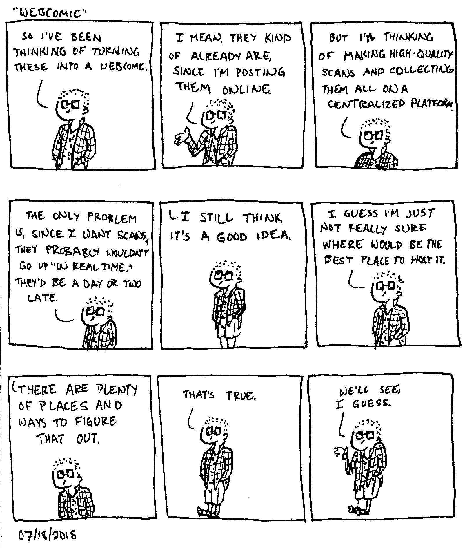 Conversations With Someone Who is Definitely Not God Webcomic